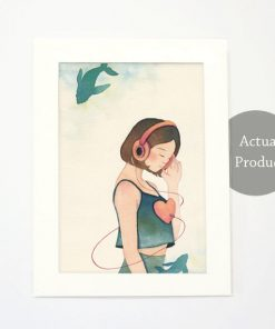 Art Print - Listen in slow living collection by Eding Illustration 2a