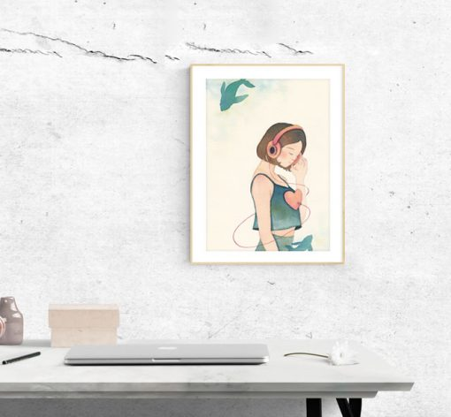 Art Print - Listen in slow living collection by Eding Illustration