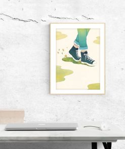Art Print - Walk in slow living collection by Eding Illustration