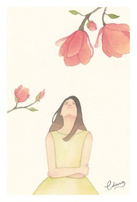 Beautiful world - slow living collection Watercolor painting by Eding Illustration