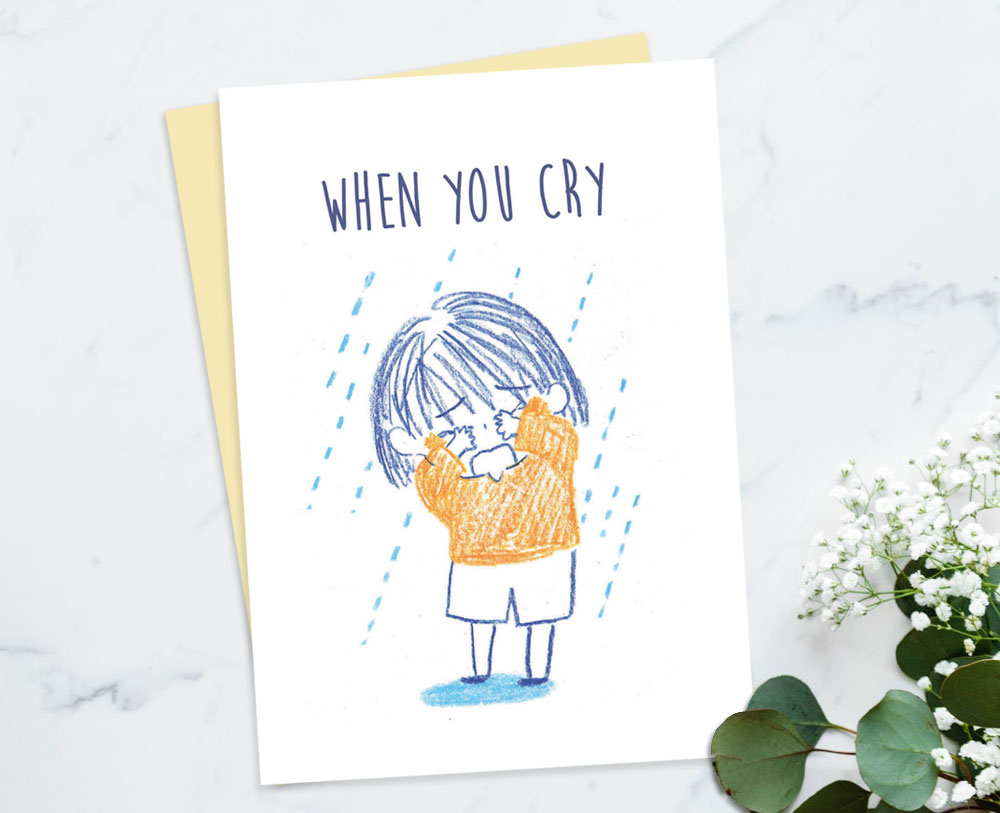 comforting cards sympathy cards encouragement cards for friends when you cry i will be there - Sympathy Cards