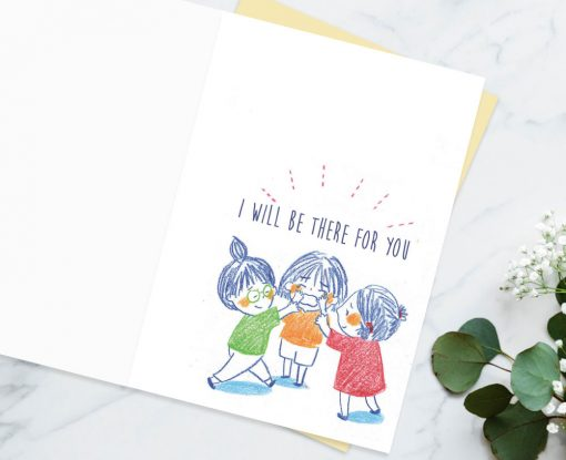 Comforting cards Sympathy cards encouragement cards for friends - when you cry i will be there for you by Eding Illustration