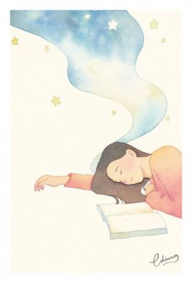 Make time for a rest - slow living collection Watercolor painting by Eding Illustration