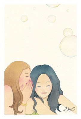 Shared joy is double joy - slow living collection Watercolor painting by Eding Illustration