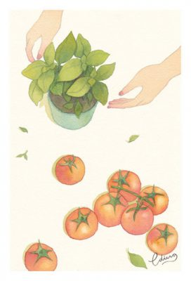 Simple life - slow living collection Watercolor painting by Eding Illustration